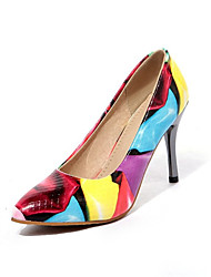 cheap -Women's Patent Leather / Microfiber Spring &  Fall Heels Stiletto Heel Pointed Toe Black / Brown / Blue