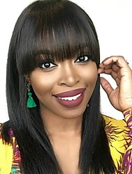 cheap -Dolago Lace Front Human Hair Wigs with Bangs 150% Density Straight 360 Lace Wigs for Black Women Cheap Bob Wig
