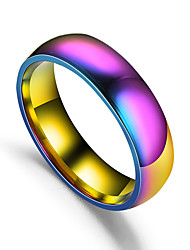 cheap -Band Ring Retro Rainbow Titanium Steel Rainbow Ladies Simple Romantic 1pc 6 7 8 9 10 / Couple's