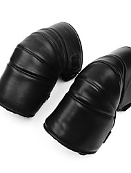 cheap -Motorcycle Protect Thick Warm Knee Pads Winter Cold windproof PU Leather