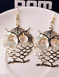 cheap -Women's Drop Earrings Classic Owl Classic Earrings Jewelry Gold For Causal 1 Pair