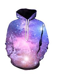 cheap -Men's Basic / Street chic Long Sleeve Hoodie - 3D Hooded Purple XL