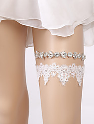 cheap -Lace Sparkle & Shine / Bridal Wedding Garter With Crystals Garters Wedding / Party