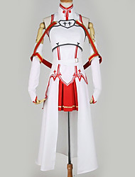 cheap -Inspired by SAO Swords Art Online Asuna Yuuki Anime Cosplay Costumes Japanese Cosplay Suits Special Design Top Skirt More Accessories For Men's Women's