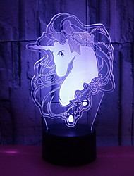 cheap -1pc LED Night Light Color-changing For Children / Creative <=36 V
