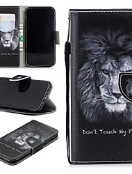 cheap -Case For Apple iPhone XR Wallet / Card Holder / Shockproof Full Body Cases Lion Hard PU Leather