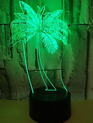 cheap -1pc LED Night Light Color-changing Remote Controlled / Creative 5 V