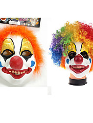 cheap -Mask Inspired by Burlesque Clown Circus Clown Rainbow Funny & Reluctant Halloween Christmas Halloween Carnival Adults' Men's Women's