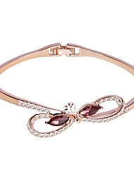cheap -Women's Bracelet Bangles Classic Stylish Simple Alloy Bracelet Jewelry Silver / Rose Gold For Gift Daily