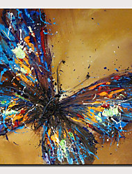 cheap -Oil Painting Hand Painted Square Abstract Pop Art Modern Rolled Canvas (No Frame)