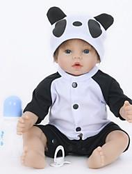 cheap -FeelWind Reborn Doll Baby Boy 22 inch Silicone Vinyl - lifelike Handmade Cute Child Safe Kids / Teen Non Toxic Kid's Unisex Toy Gift
