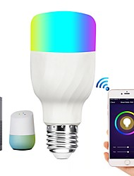 cheap -BRELONG Smart WiFi Smart Bulb RGBW Dimmable LED Bulb Compatible with Alexa / Google Homepage