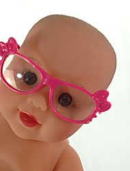 cheap -Doll accessories Glasses Reborn Doll Baby Boy Baby Girl Cute Kids / Teen ABS+PC Kids Baby Unisex Toy Gift 1 pcs