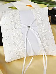 cheap -Silk Like Satin Bowknot / Lace / Floral Satin Ring Pillow Wedding All Seasons