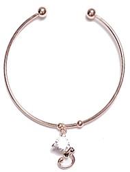 abordables -Manchettes Bracelets Femme Classique Elégant simple Bracelet Bijoux Argent Or Rose pour Vacances Travail Festival