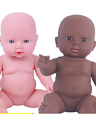 cheap -KIDDING Reborn Doll Baby Boy African Doll 24 inch Full Body Silicone Silicone Vinyl - lifelike Handmade Cute Kids / Teen Kid's Unisex Toy Gift