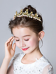cheap -Princess Elsa Anna Tiaras Forehead Crown Halloween New Year's Rhinestones Alloy For Christmas Halloween Masquerade Girls' Costume Jewelry Fashion Jewelry / Headwear / Headwear