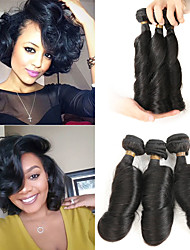 cheap -3 Bundles Brazilian Hair Curly Bouncy Curl Remy Human Hair Human Hair Extensions 8-22 inch Human Hair Weaves Soft Best Quality New Arrival Human Hair Extensions