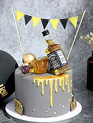 Недорогие -Украшения для торта Классика / Праздник / Свадьба Художественные / Ретро / Уникальный дизайн Чистая бумага Для вечеринок / День рождения с Планка 1 pcs Пенополиуретан