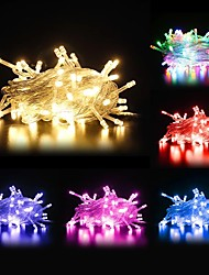 cheap -10m String Lights 100 LEDs Dip Led Warm White / Cold White / RGB Waterproof / Party / Linkable 220-240 V 1pc / IP44