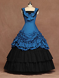 cheap -Cosplay Lolita Vintage Inspired Dress Women's Costume Blue Vintage Cosplay Party Stage Sleeveless Floor Length Plus Size