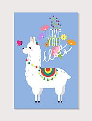cheap -Print Stretched Canvas Prints - Animals Modern Art Prints