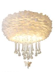 cheap -ZHISHU 2-Light 40 cm Crystal / Mini Style / Creative Flush Mount Lights Metal Circle / Novelty Painted Finishes Artistic / Nature Inspired 110-120V / 220-240V / E26 / E27