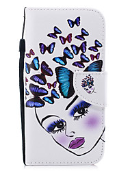cheap -Case For Apple iPhone XR Wallet / Card Holder / Shockproof Full Body Cases Butterfly / Sexy Lady Hard PU Leather