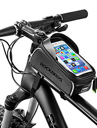 cheap -ROCKBROS Cell Phone Bag Bike Frame Bag Top Tube 6 inch Waterproof Portable Cycling for iPhone X iPhone XR iPhone XS Black Bike / Cycling / iPhone XS Max