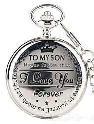 cheap -Couple's Pocket Watch Quartz Silver Casual Watch Cool Analog Vintage Casual - Silver