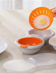 Недорогие -микроволновка яйцо браконьер посуда двойная чашка двойная пещера яйцо