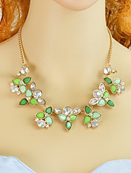 cheap -Women's Statement Necklace Floral Fashion Acrylic Resin Plastic Light Green 44.5 cm Necklace Jewelry 1pc For Daily