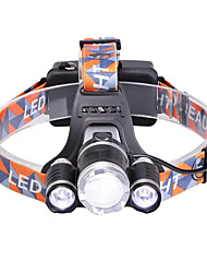 cheap -U'King Headlamps Headlight 3000 lm LED LED Emitters 3 Mode Zoomable Adjustable Focus Compact Size High Power Easy Carrying Camping / Hiking / Caving Everyday Use Cycling / Bike / Aluminum Alloy