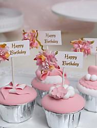 cheap -Cake Topper Classic Theme / Holiday / Birthday Artistic / Retro / Unique Design Pure Paper Birthday with Splicing 3 pcs OPP