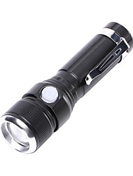 cheap -U'King LED Flashlights / Torch 1000 lm LED LED 1 Emitters 3 Mode Portable Durable Camping / Hiking / Caving Everyday Use Cycling / Bike Black
