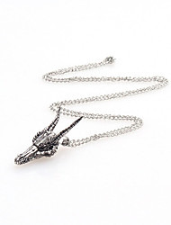 cheap -Vintage Chain Necklaces Dragon Head Pendant Necklace For Mens Punk Jewelry