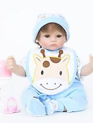 abordables -FeelWind Poupées Reborn Bébés Garçon 18 pouce Silicone Vinyle - réaliste Fait à la Main Mignon Enfant / Adolescent Non toxique Pour enfants Unisexe Jouet Cadeau