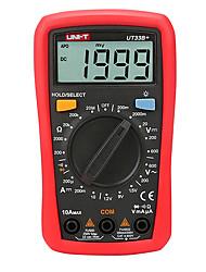 Недорогие -uni-t ut33b + цифровой мультиметр 200мВ ~ 600В 10a переменный ток вольтметр амперметр тестер сопротивления с функцией тестирования батареи