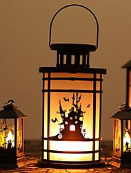 Недорогие -Хэллоуин мигающий замок пламя ночные огни масляная лампа фонарь творческая ручка винтаж керосиновая лампа 1 шт.