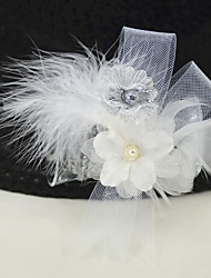 "cheap -Wedding Flowers Boutonnieres / Headpiece Wedding / Wedding Party Goose Feather / Plain Poplin / Fabrics 5.91""(Approx.15cm)"