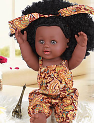 cheap -KIDDING Reborn Doll Girl Doll Baby Girl African Doll 12 inch Full Body Silicone Silicone Vinyl - lifelike Handmade Cute Kids / Teen Kid's Unisex Toy Gift