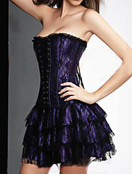 cheap -Normal Polyester Corset Sexy Solid Colored Wedding Bandage Corset Dresses