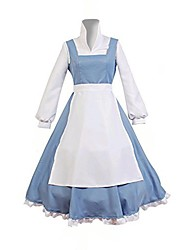 cheap -Maid Costume Belle Cosplay Costume Adults' Women's Dresses Christmas Halloween Carnival Festival / Holiday Polyster Blue Women's Carnival Costumes Princess