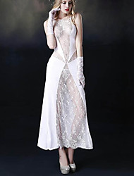 cheap -Normal Polyester Corset Sexy Solid Colored Wedding Lace Corset Dresses
