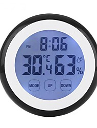 cheap -Touch Screen Thermometer Humidity Minitor Hygrometer Sensor with Alarm Clock High Quality