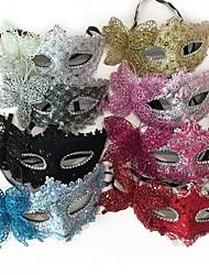 cheap -Lace Mask Venetian Mask Half Mask Inspired by Princess Venetian Cosplay Black Purple Princess Lolita Halloween Carnival Masquerade Adults' Women's Female