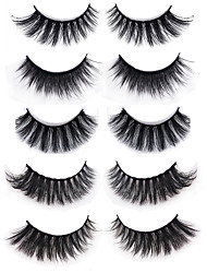 cheap -Eyelash Extensions 10 pcs Handmade Cute Soft Lightweight Soft Beauty Animal wool eyelash Party Birthday Daily Wear Crisscross Thick Natural Long - Makeup Daily Makeup Special High Quality Cosmetic