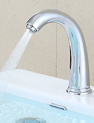cheap -Bathroom Sink Faucet - Touch / Touchless Brass Other Hands free One HoleBath Taps