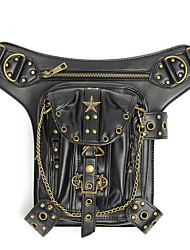 abordables -steampunk taille jambe cuir sac fourre-tout holster sac à main pochette vintage ceinture punk locomotive sac