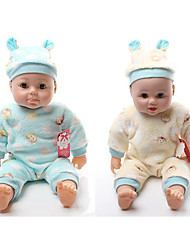 cheap -Fashion Doll Talking Toy Baby Boy 16 inch Silicone - Smart lifelike Kids / Teen Kid's Unisex Toy Gift